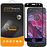 [2-Pack] Supershieldz for Motorola Moto X4 / Moto X (4th Generation) Tempered Glass Screen Protector, [Full Screen Coverage] Anti-Scratch, Bubble Free, Lifetime Replacement Warranty (Black)