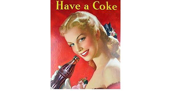 MiMiTee Coca-Cola Cartel De Chapa Placa Metal Vintage Arte ...
