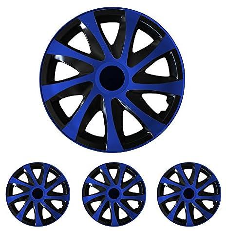 Tapacubos - Tapacubos Tapacubos DRACO Azul 14 pulgadas 14? R14 universal apto para casi todos los vehículos estándar con llantas de acero por ejemplo ...
