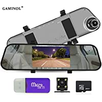 Dash Camera 5.0 inch 170 degree wild angle vehicle monitor 1296p car recorder with G- sensor night vision Motion Detection loop recording Dashboard camera with 16GB TFCard