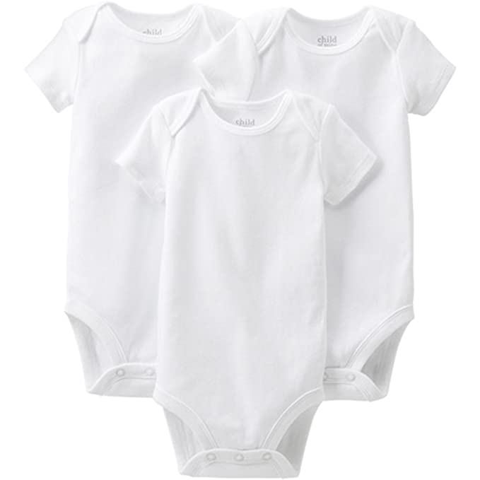 9168a859d Amazon.com: Child of mine by Carter's Short Sleeve Bodysuits 3-Pack ...