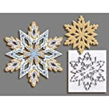 R & M International Giant 7.5 Inch Snowflake Cookie Cutter with Interior New