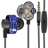 COCOCAT HR-007 Twin Driver High Resolution Heavy Bass In-Ear Headphones with Microphone and Remote for iOS Android -with Premium Foam Earbud Tips for Sport and Isolation Plus Sound