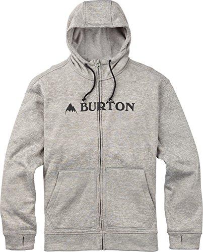 Burton Men's Oak Full-Zip Hoodie, Monument Heather W18, Large Burton Mens Bonded Fleece