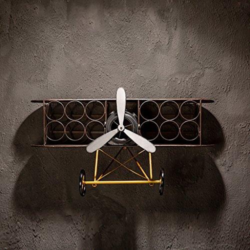Yxsd Sostenedor creativo de la taza del estante del vino del industrial, estante colgante de la exhibición del tapiz Estante...