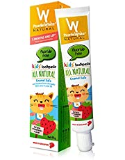 Pearlie White All Natural Enamel Safe Kids' Toothpaste Fluoride Free, 45g