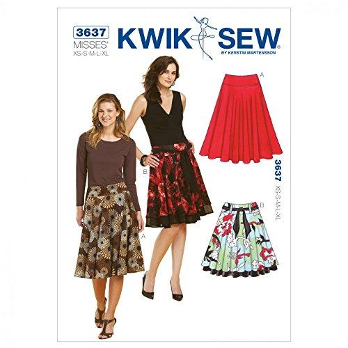 (Kwik Sew Ladies Sewing Pattern 3637 Circular Skirts & Belt)