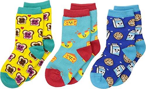 Socksmith Unisex Best Foods Forever (Toddler/Little Kid/Big Kid) Variety 10 Toddler-1 Little Kid -
