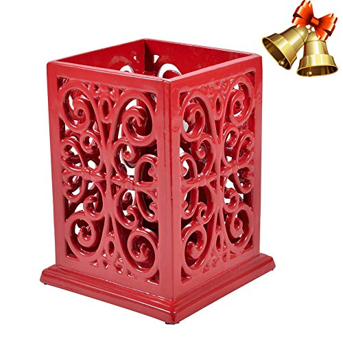 Kitchen Utensil Holder Cooking Utensil Organizer Vintage Decorative Cast Iron Utensil Holder Perfect Gift for Cooking-Red Color (Kitchen Holder Utensil Red)