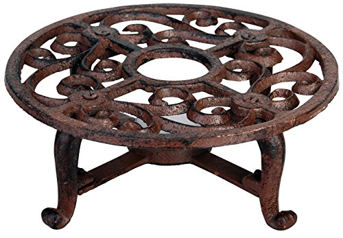 Scrolled Traditional Metal - Esschert Design USA Cast Iron Teapot Warmer