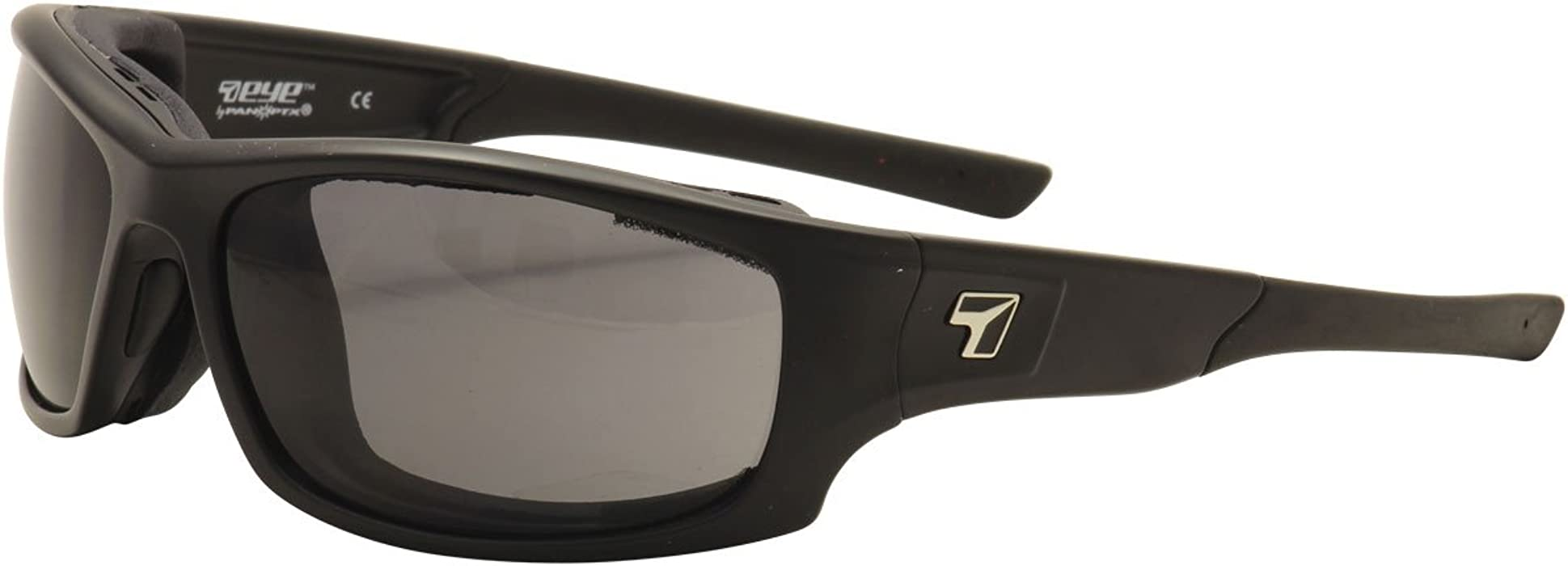 7Eye Airshield Panhead F-2601 Matte Black SharpView Gray Sunglasses Asian Fit