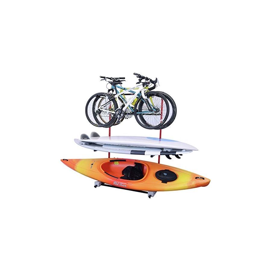 Malone Auto Racks FS Rack 3 Bike, 2 SUP, 1 Kayak Storage Rack One Color, One Size