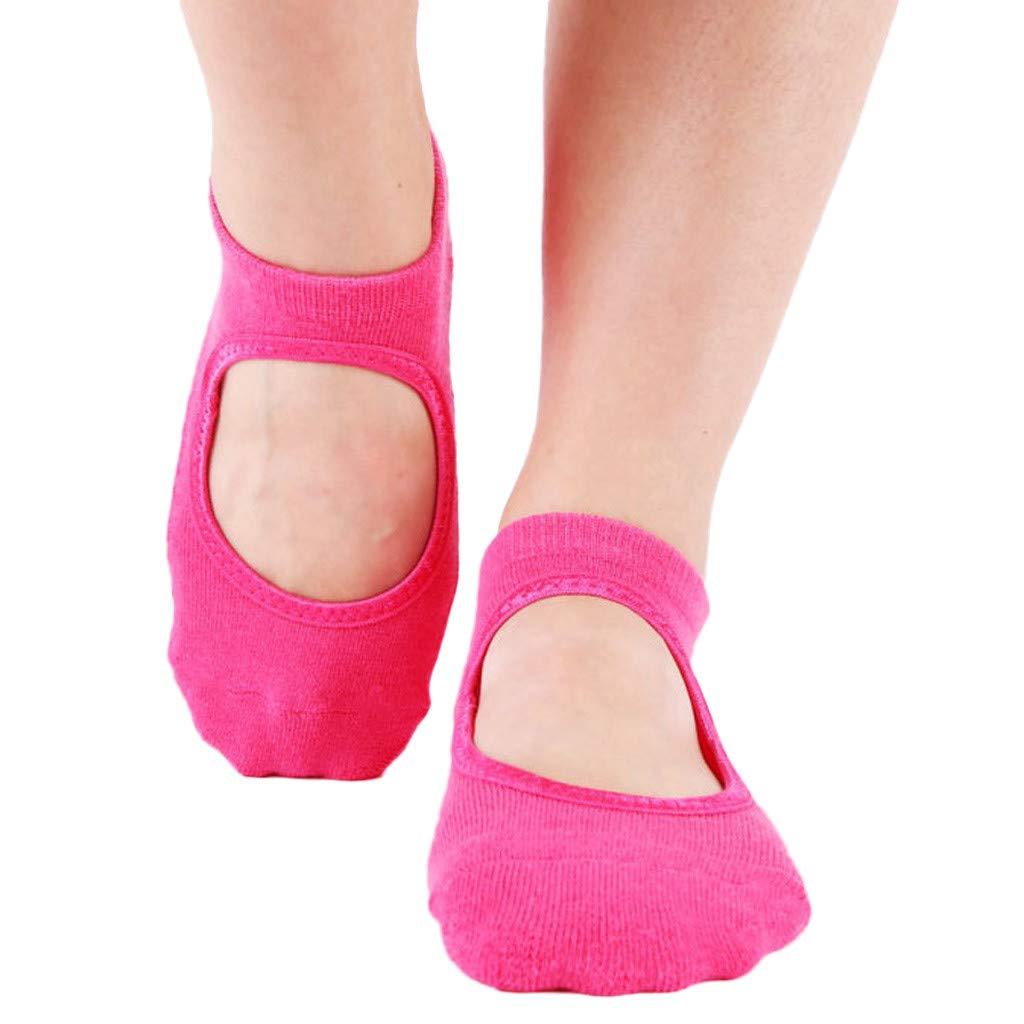 Ballet Non Skid Socks for Women Non Slip Grip Yoga Socks Sports Socks Exercise Gym Socks for Dance (D)