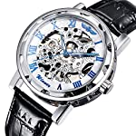 Gute Classic Steampunk Bling Automatic Mechanical Wristwatch See Through Skeleton Automatic Unisex Watch 6