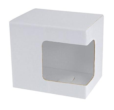Ten Ventana de Esquina de Caja Blanca para Tazas cod.EL27110 cm 11,5x8