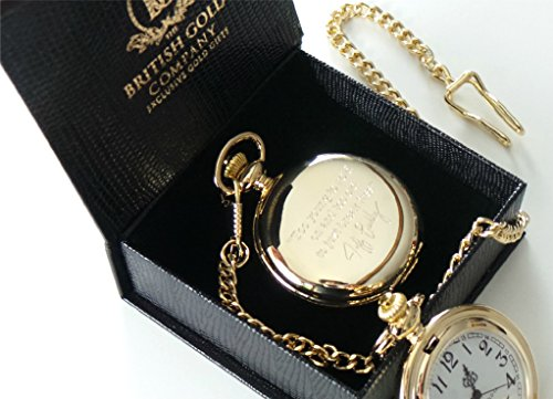 Jeff Buckley Signed Quote Pocket Watch 24k Gold Plated with Certificate Boxed in Luxury Gift Case 24k Gold Plated Record