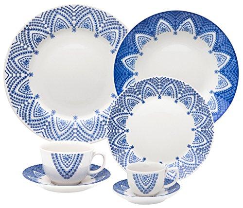 Oxford Porcelain Flamingo 12 Piece Milano Dinnerware Set - Bone Oxford China