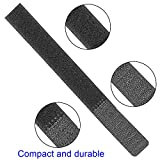 150PCS Reusable Fastening Cable Straps, Cord Ties & Cable Strips, 0.85in X 7in, Black