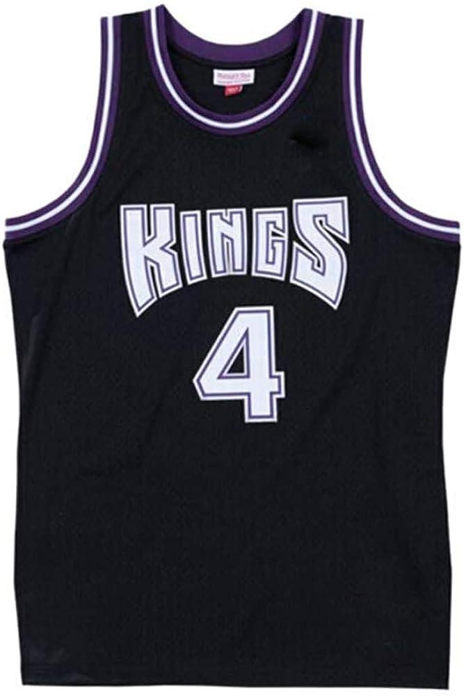 Sacramento Kings 4# Chris Webber Retro Basketball Shirt Stickerei Jersey Fan Gym Bequeme Weste Sportswear T-Shirt Basketball Jersey XS-XXL
