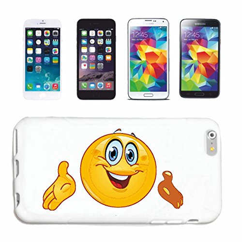 "cas de téléphone iPhone 7S ""MERRY SMILEY la Prédication ""sourire EMOTICON APP de SMILEYS SMILIES ANDROID IPHONE EMOTICONS IOS"" Hard Case Cover Téléphone Covers Smart Cover pour Apple iPhone en blanc"