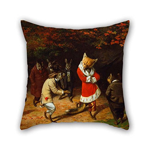 TonyLegner The Oil Painting Beard, William Holbrook - His Majesty Receives Pillowcover 18 X 18 inches / 45 45 cm Decoration Gift Wedding Chair Birthday Girls Coffee House Car (Double Sides)