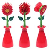 Cleaning Brush Sun Flower shape pan pot Dish Washing Brush...