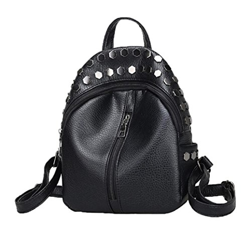 Creazy Women Backpack Girls Knapsack School Bags Teenagers Rucksack Mini Rivet Bag