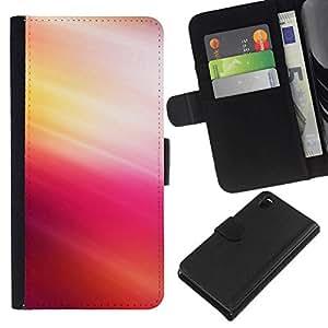 // PHONE CASE GIFT // Moda Estuche Funda de Cuero Billetera Tarjeta de crédito dinero bolsa Cubierta de proteccion Caso Sony Xperia Z3 D6603 / Pink Tones /