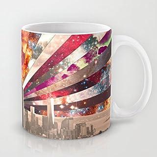 QoiueoF tazze, motivo: New York, colore: bianco, 11 g