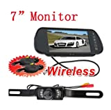 BW® 7 Inch TFT LCD Reverse Mirror Monitor IR Night Waterproof Car Wireless Reversing Parking Backup RearView Camera System For Sale