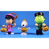 Peanuts Worldwide Lucy Snoopy and Charlie Brown Halloween Figures for Kids