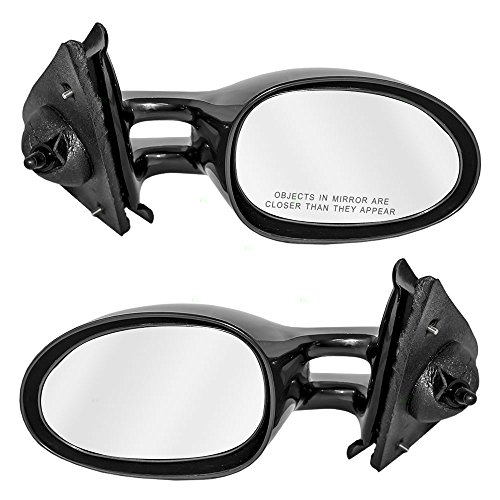 Driver and Passenger Manual Remote Side View Mirrors Replacement for Chrysler Dodge Plymouth 4646803 4646802 ()
