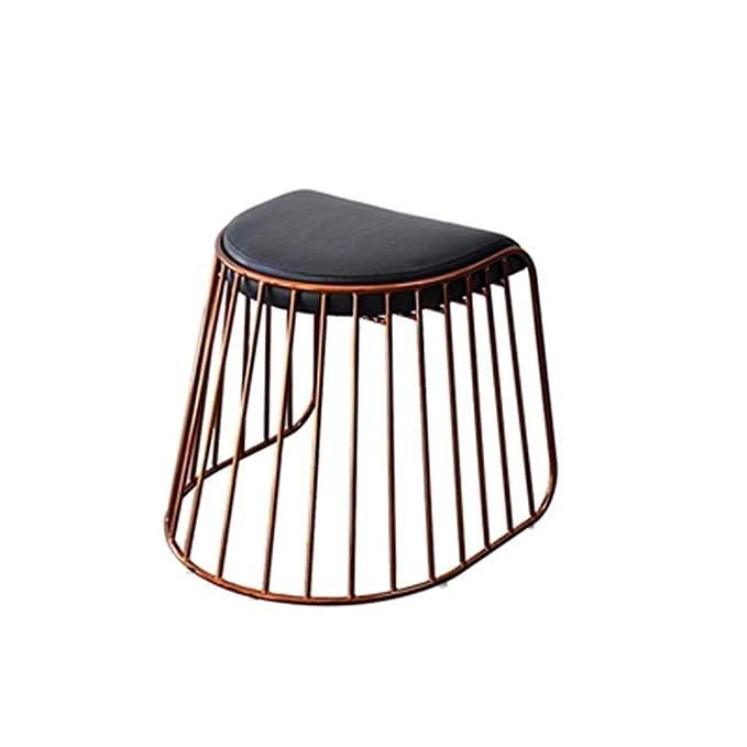 Amazon.com: Zfusshop Sofa Stool Modern Golden Vanity Stool ...