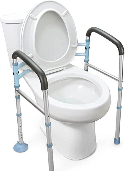 Amazon Com Oasisspace Stand Alone Toilet Safety Rail Heavy Duty Medical Toilet Safety Frame For Elderly Handicap And Disabled Adjustable Bathroom Toilet Handrails Width Adjustable Design Fit Any Toilet Health