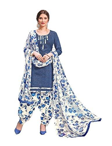 13 Women Salwar Kameez Ethnic Indian Designer Da Facioun Traditonal Patiala Blue qEfvSS