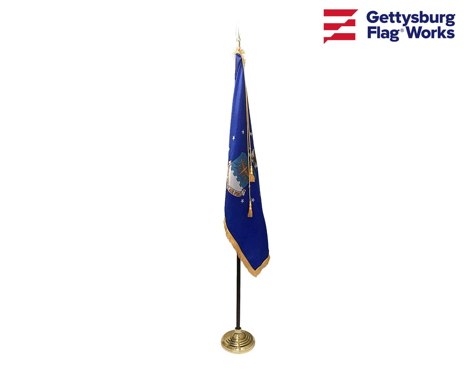 3x5' Air Force Indoor Flag Set, Includes Indoor Flag, Base, Spear Finial and Decorative Cord and Tassel