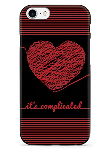 Inspired Cases Chaos Doodle Heart - It's Complicated - Black Case - Apple iPhone 8