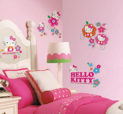 Hello Kitty - Floral Boutique Peel & Stick Wall Decals 10 x 18in