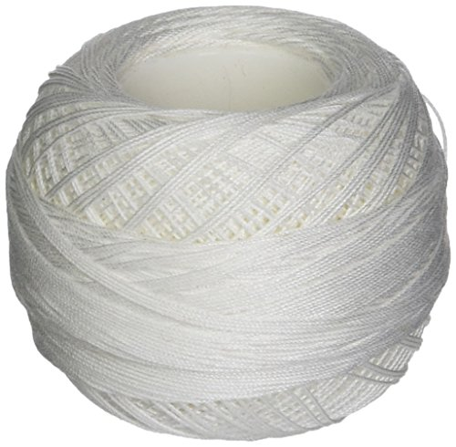 DMC 151 30-BLANC Cordonnet Cotton, White, 216-Yard, Size 30