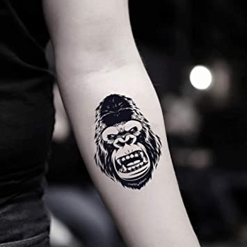 77985dce2 Amazon.com : Gorilla Temporary Fake Tattoo Sticker (Set of 2) -  www.ohmytat.com : Beauty