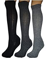 3 pairs mens wool blend boot socks.padded sole..new