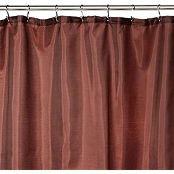 red and brown shower curtain. Carnation Home Fashions Fabric Shower Curtain Liner  70 Inch by 72 Amazon com Solid Chocolate Brown Vinyl Heavy