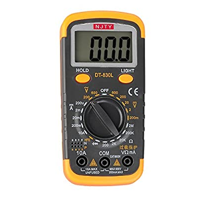 ELIKE 830L Digital Multimeter with hFE, Back Light, Data Hold and Overload Protection