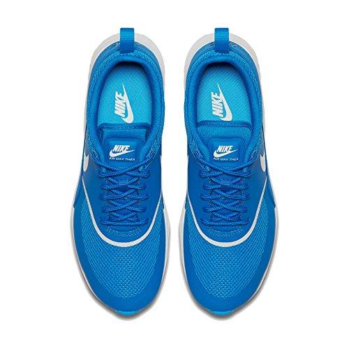 Nike Kvinders Air Max Thea Kører Blå Gnist / Topmøde Hvid Størrelse 5 30YD4FQJN