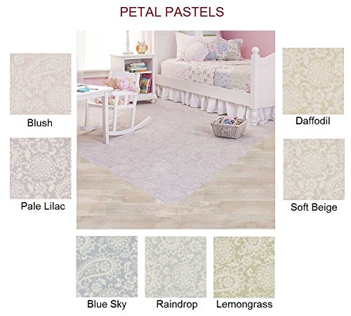 PETAL PASTELS Custom Carpet AREA RUG - 40 Oz. Tufted, Pinpoint Saxony - Nylon (8'x10', Blush) (40 Ounce Nylon Carpet)