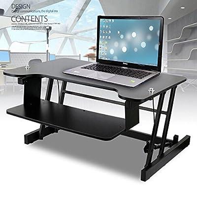 "Soges Standing Desk 37"" Sit Standing Desk Standing Desk Converter Desks Monitor Stand Workstation, ZHLB-2-94"