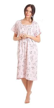 Womens Jersey Short Sleeve Winterberry Floral Print Nightdress Nightie Lady Olga