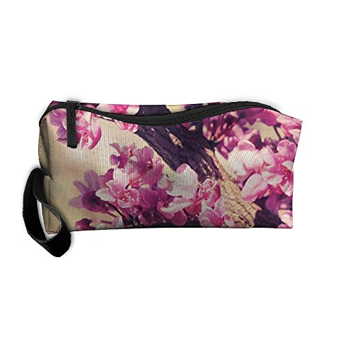 Cherry Bloom Cosmetic Bags Brush Pouch Makeup Bag Zipper Wallet Hangbag Pen Organizer Carry Case Wristlet - Cherry Hill Mall Times