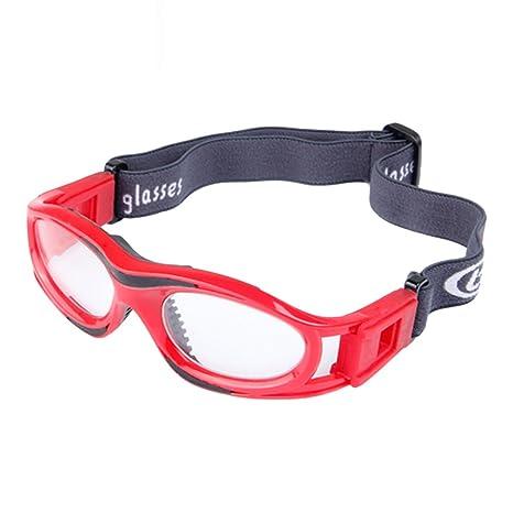 5581b3ffc5 Goodtimes28 enfants Sport Lunettes de protection Eyewear Basketball Football  élastique Sangle, Red: Amazon.fr: Sports et Loisirs