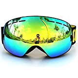 Anti-fog Ski Goggles, IFLYING COPOZZ Snowmobile Snowboard Skate Ski Goggles with Detachable Wide Vision Double Lens Different VLT Available